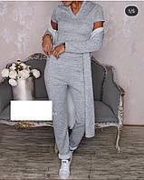Костюм женский тройка  майка  кардиган брюки, фото 1
