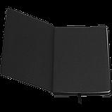 Блокнот деловой BRIEF А5 96л. линия, иск. кожа, черный, фото 3