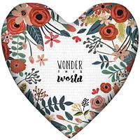 Подушка серце Wonder this world 37х37 см (4PS_17L026)