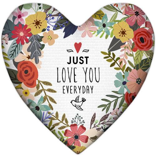 Подушка серце Just love you everyday 37х37 см (4PS_17L025)