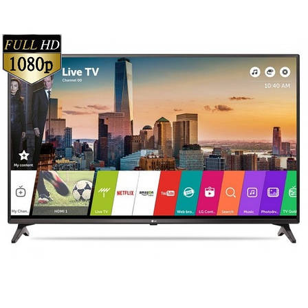 Телевизор LG 43LJ614V (PMI 1000 Гц, Full HD, Smart TV, Wi-Fi, Virtual Surround Plus 2.0 20Вт, DVB-C/T2/S2), фото 2