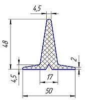 Шеврон для конвейерной ленты 48 мм