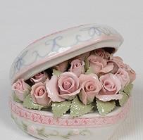 Фарфоровая музыкальная статуэтка Сердце 11 см CMS - 15/41