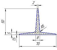Шеврон для конвейерной ленты 50 мм
