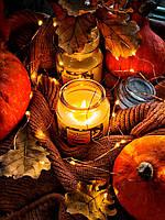 Свеча в банке с запахом ванили и апельсина, фото 1