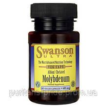 Молибден Хелат, Swanson Albion Chelated Molybdenum 400 mcg 60 Veg Caps