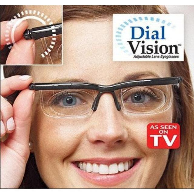 Збільшувальні окуляри з Регулюванням лінз від -6 D до +3 D . Лупа Dial Vision рукоділля , Вишивка ,Читання . Хіт А