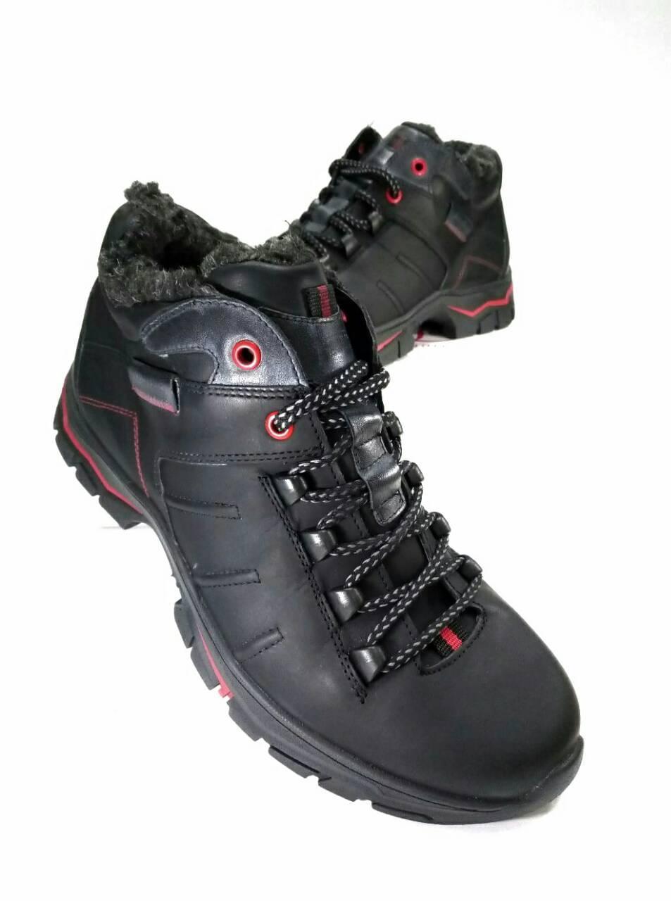 Мужские ботинки зимние МИДА 14665 из натуральной кожи