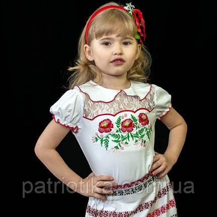 Футболка-вышиванка для девочки | Футболка-вишиванка для дівчинки, фото 2
