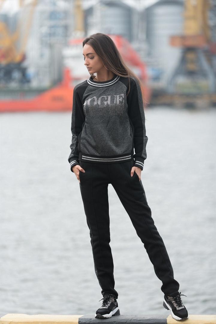 """Трикотажный женский спортивный костюм """"VOGUE"""" с лампасами"""