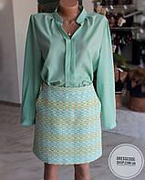 Красивая юбка в салатовых оттенках