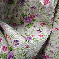 Ткань для штор Promesse розы сиреневый 280 см (291221)