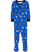 Человечки-пижамки Картерс хлопковые для мальчиков12-18-24 мес. Футбол Carters (США)
