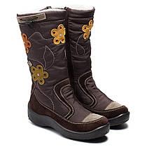 Зимние мембранные сапоги Kapika для девочки, коричневые, размер 30-37,5