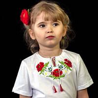 Вышиванка с коротким рукавом для девочек | Вишиванка з коротким рукавом для дівчаток