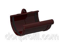 Сполучна муфта жолоба 120 мм коричнева червона