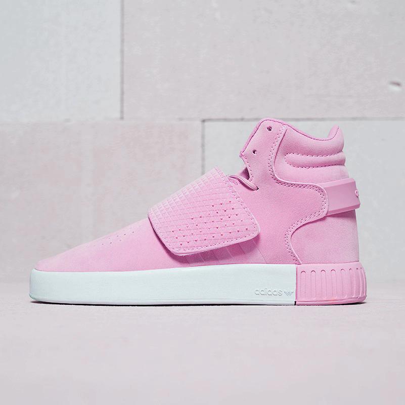 """Кроссовки Adidas Tubular Invader Strap """"Pink"""" (Розовые)"""