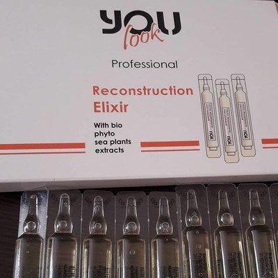Відновлюючий лосьйон для волосся You Look Reconstruction Elixir, (10 ампул по 10 мл)