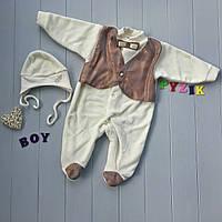 Набор для новорожденного на выписку (человечек+шапочка) Сеньор 1, фото 1