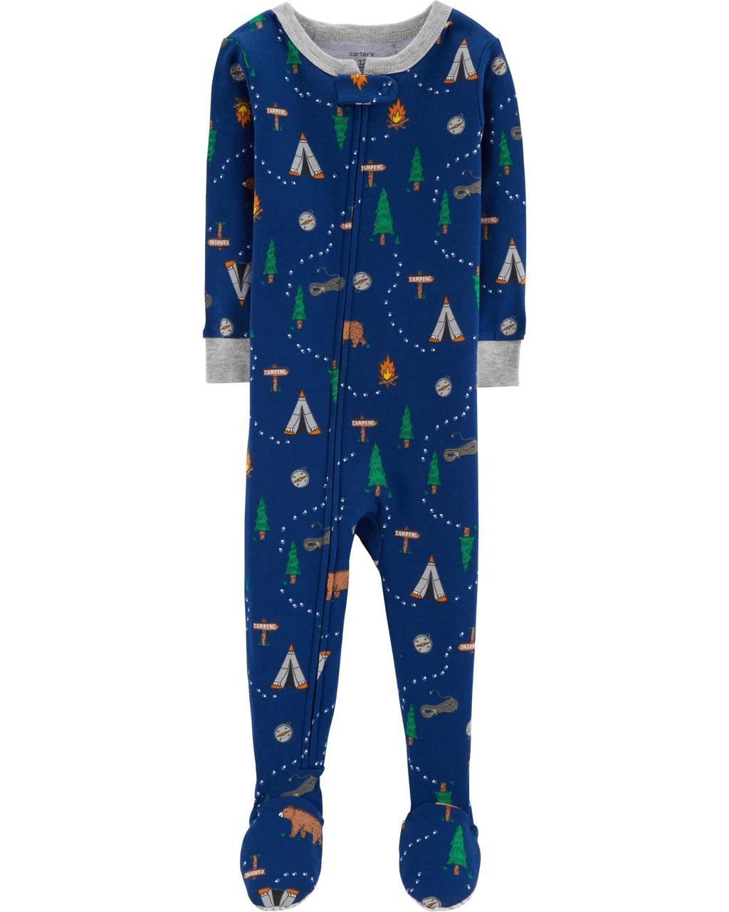 Человечки-пижамки Картерс хлопковые для мальчиков12-18-24 мес. Кемпинг Carters (США)