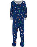 Человечки-пижамки Картерс хлопковые для мальчиков 12-18-24 мес. Кемпинг Carters (США)