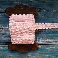 Кружево хлопковое волна и косичка розовое, ширина 2.7 см
