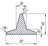 Шеврон для конвейерной ленты 40 мм