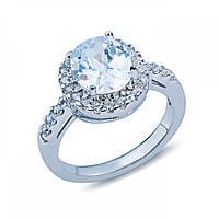 Серебряное кольцо декоративное с цирконом MS-148-R