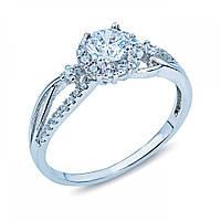 Серебряное кольцо с камнями на помолвку HYR12060061