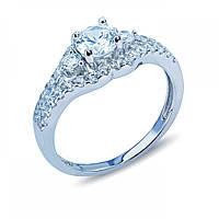 Кольцо серебряное на помолвку с цирконием JR-3116-R