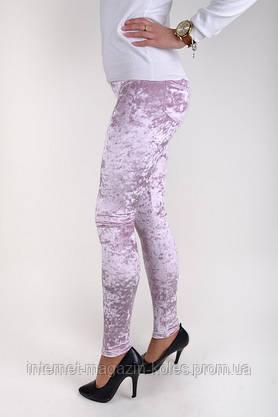 Розовые женские велюровые лосины, фото 2