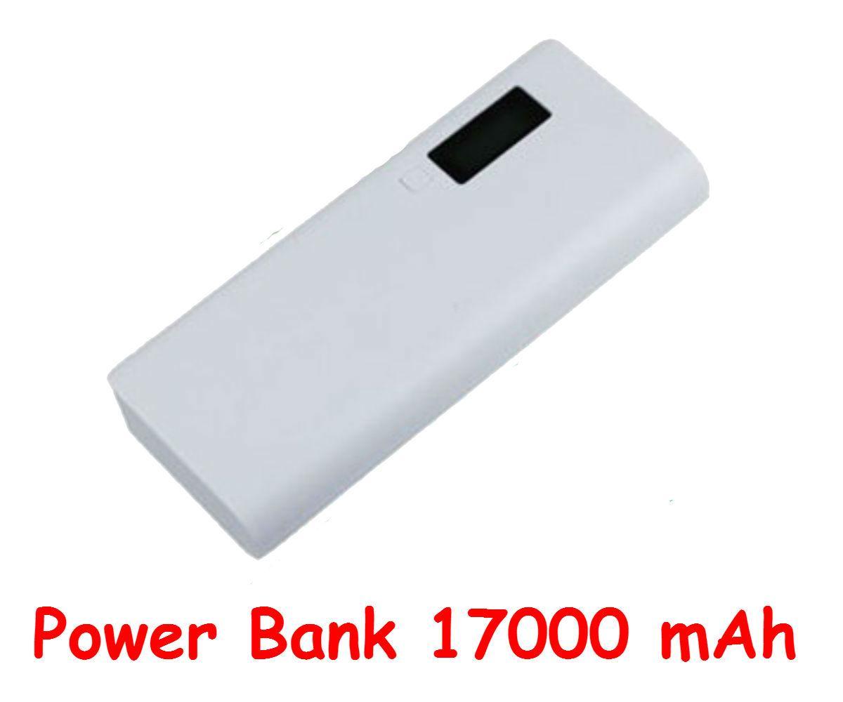 Powerbank 17000 mAh Li-on Универсальная мобильная батарея (белая) Оригинальный аккумулятор! Реальная емкость