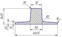 Шеврон для конвейерной ленты 15 мм
