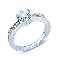 Кольцо серебряное на помолвку с камнями JR-2598