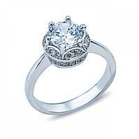 Кольцо на помолвку серебряное с цирконием SK-SB028R