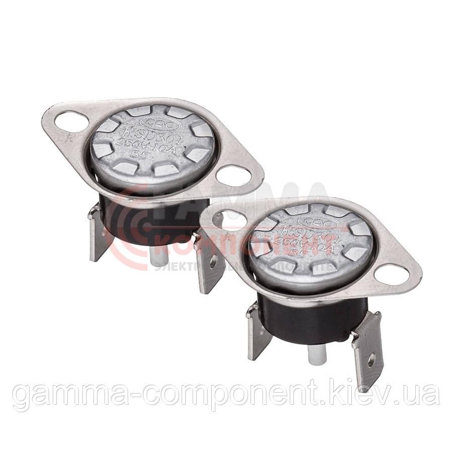 Термостат KSD301-90, 250V, 10A, (90°C) с кнопкой