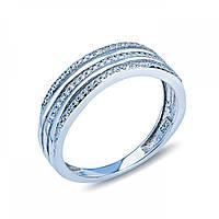 Серебряное декоративное кольцо-дорожка JR0241