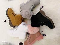 Детские зимние ботинки с мехом Размеры 31-36, фото 1