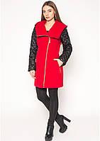 Кашемировое пальто демисезонное стеганое женское из кашемира со стежкой