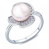 Кольцо серебро с жемчугом R00741PW