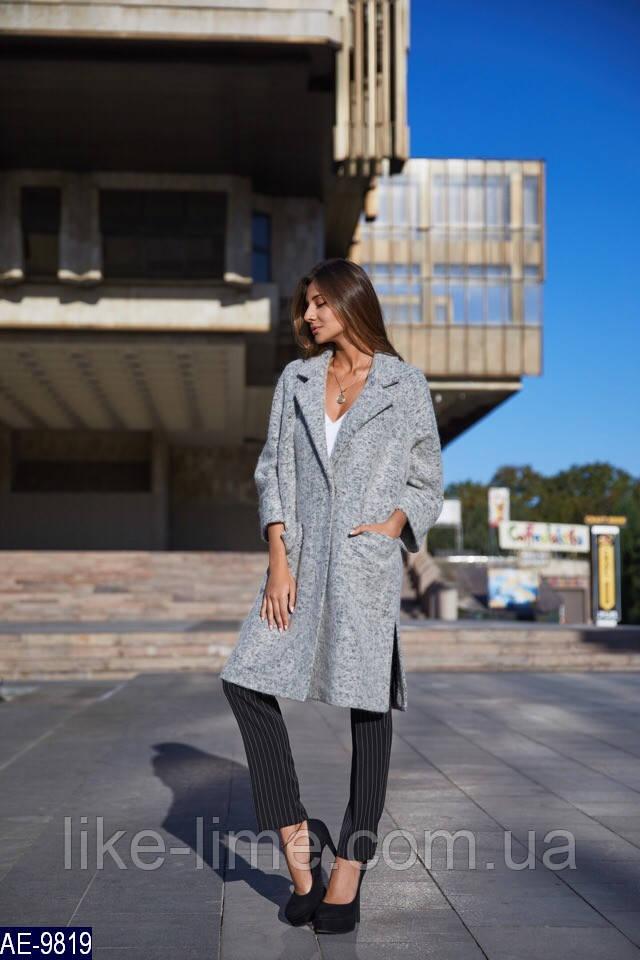 Женское стильное шерстяное пальто