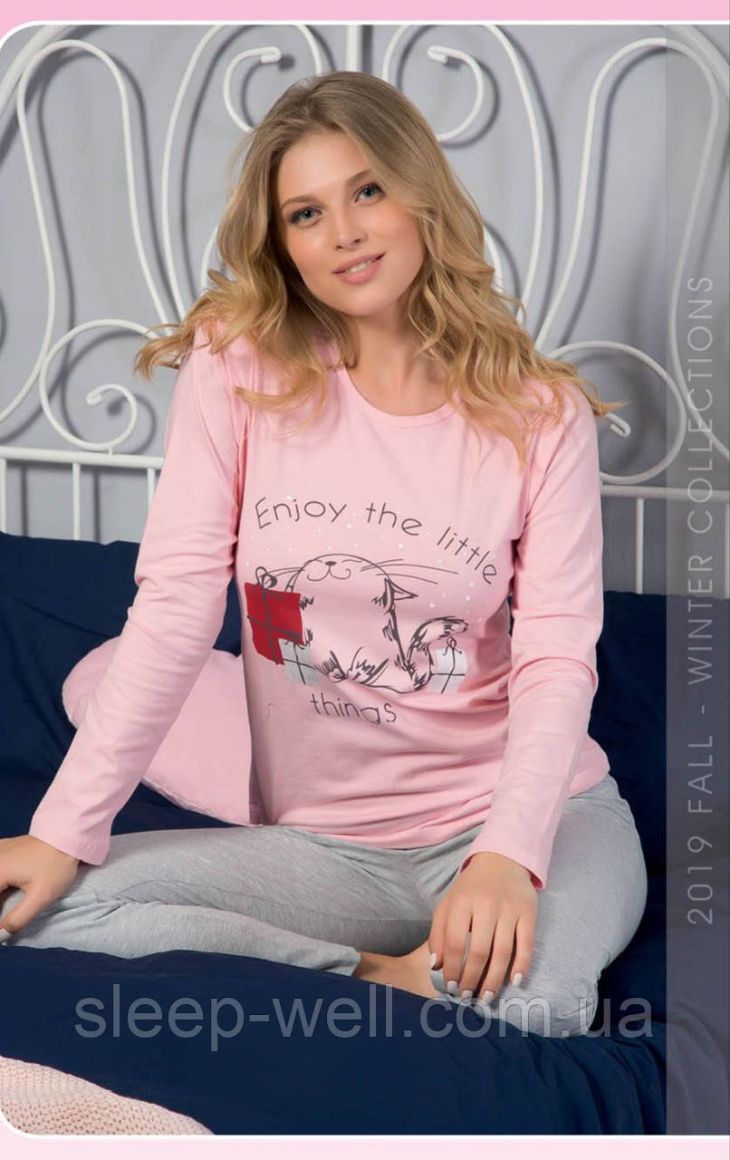 Пижама с длинными штанами с рисунком,ELITOL
