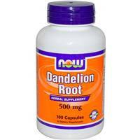 Одуванчик корень 500 мг 100 капс для печени желчного пузыря диуретик снижение холестерина  Now Foods USA