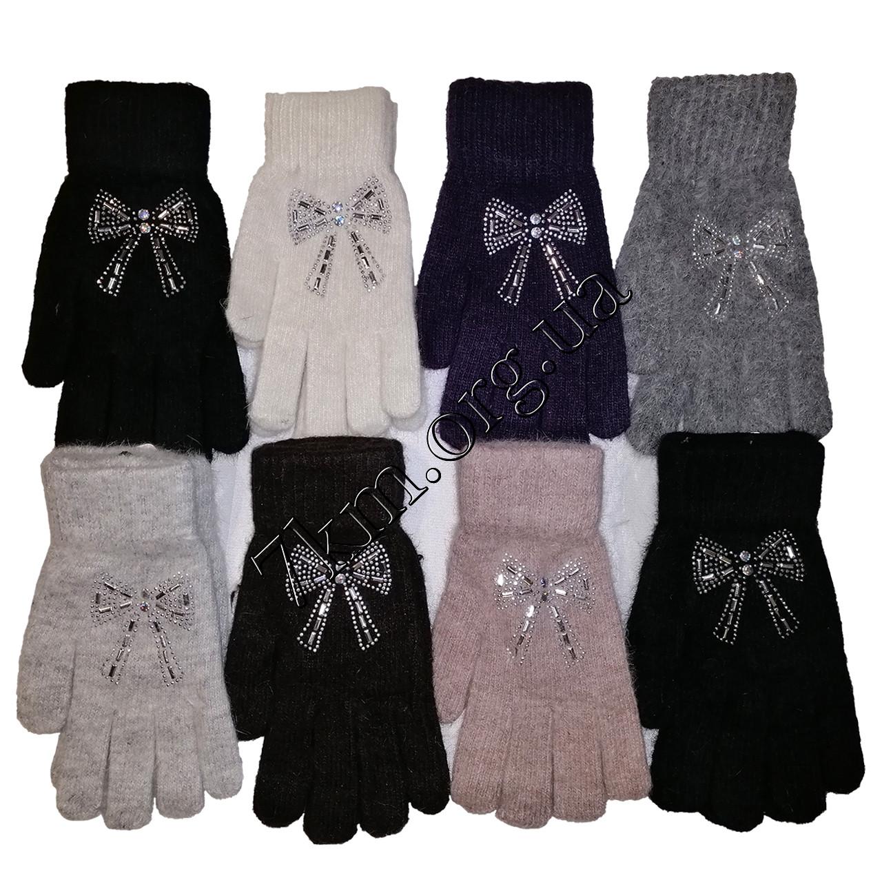 Перчатки молодежные одинарные шерсть +ангора от 16 лет Китай Оптом G7269