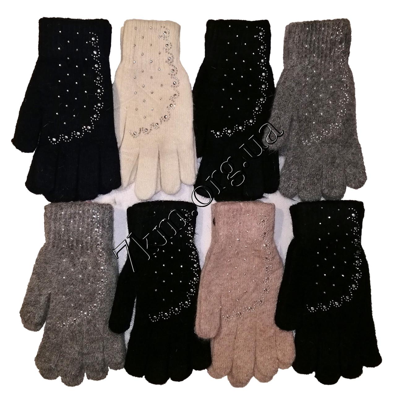 Перчатки молодежные одинарные шерсть +ангора от 16 лет Китай Оптом G7514