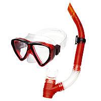 Маска с трубкой для плавания Spokey Quarius Junior Красная (s0286)