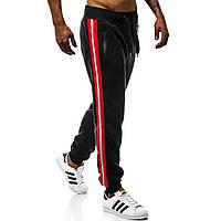 Штаны спортивные (черные с красным)