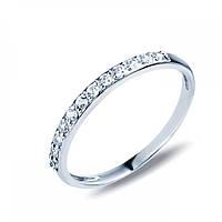 Серебряное кольцо-дорожка с белыми цирконами 71402б