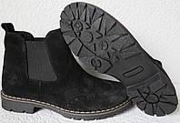 Женские черные ботинки в стиле Timberland натуральный замш осень весна , фото 1