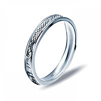 Кольцо обручальное из серебра с родиевым покрытием 10701/8